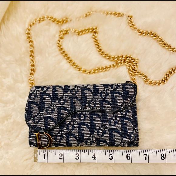 Dior Bags Solddior Oblique Saddle Wallet In Navy Poshmark